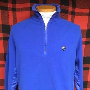 EUC Polo Swiss tech fleece pullover sweater sz M